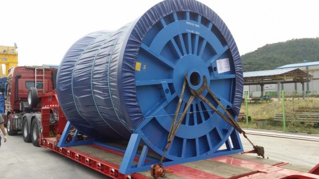 6 strands steel wire rope diameter 76 mm - 2850 mt