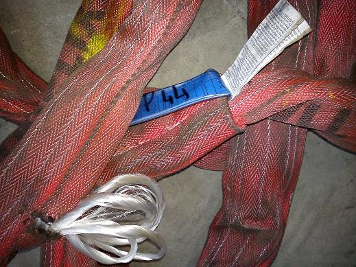 Tubular sling in polyester with textile core spillage