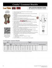 Crosby Shackle G-2170 technical details