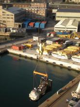 SIRTEF lifting spreader beam panoramic on Costa Fascinosa ship