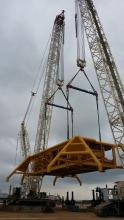 Modular spacer WLL t.400 of 7.75 mt. to lift the Jackets for the Rosetti Marino offshore platforms located in the ocean