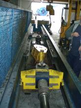 Load test on crane block