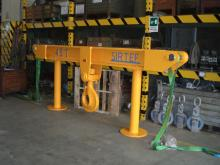 Custom made lifting beam complete with swivel hook